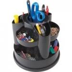 Staples 10-Compartment Rotating Desk Organizer (Black)
