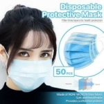 50-Count 3-Ply Disposable Face Mask