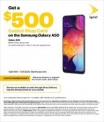 $500 Costco card when you buy a Sprint Galaxy A50 for $350