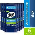 6-Count 2.6oz Right Guard Sport Antiperspirant Deodorant (Fresh)