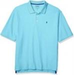 IZOD Men's Big & Tall Advantage Performance Short Sleeve Solid Polo Shirt