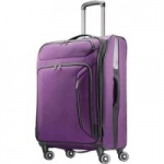 """25"""" American Tourister Expandable Softside Spinner Luggage: Black $44 Purple"""