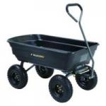 Gorilla Carts GOR4PS Poly Garden Dump Cart (600lb Capacity Black)