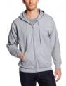 Hanes Men's Full-Zip Eco-Smart Fleece Hoodie (Light Steel Gray)