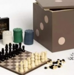 Studio Mercantile: Wall Ring Toss Game $12 5-in-1 Dice Box Game Set