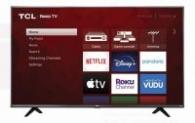 TCL 55″ Class 4K UHD HDR LED Roku Smart TV 4 Series 55S20 $148