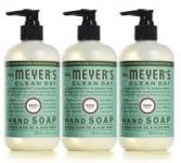 3-Pack 12.5-Oz Mrs. Meyer's Clean Day Liquid Hand Soap (Basil or Lemon Verbena)