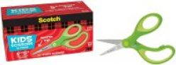 12-Pack 5″ Scotch Soft Touch Pointed Kid Scissors (Green)