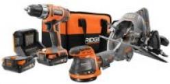 RIDGID 18V 3-Tool Combo Kit w/ 2x 2.0Ah Batteries Charger & Bag