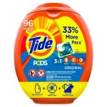 96-Count Tide Pods Liquid Laundry Detergent Pacs Original $16.08