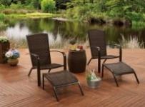 Better Homes & Gardens 5-Piece Wicker Adirondack Chair Chat Set