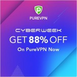 PureVPN Cyber Monday sale 88% Off on 5-Year Plan: $1.32/m