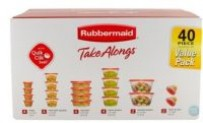 40-Pc Rubbermaid TakeAlongs Food Storage Containers