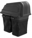 42 in. 2-Bin Soft-Sided Lawn Mower Bagger