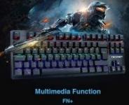 TeckNet Wired Rainbow Backlit Mechanical Keyboard