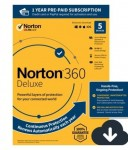 NORTON 360 DELUXE, 1-Year Subscription, 5 DEVICE, PC, MAC [Digital Download]