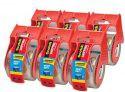 6-Pack Scotch Heavy Duty Packaging Tape w/ Dispenser (1 7/8″ x 22.2yd.)