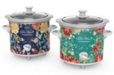 The Pioneer Woman Fiona Floral and Vintage Floral 1.5-Quart Slow Cookers, Set of 2