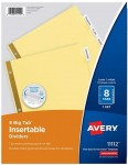 Avery 8-Tab Binder Dividers w/ Clear Big Tabs