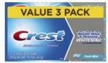 3-Ct 6.4oz Crest Baking Soda & Peroxide Whitening & Tartar Protection Toothpaste