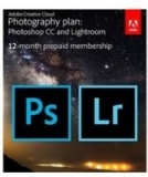 Adobe Creative Cloud Photography Plan with 20GB Cloud Storage and $20 Gift Card Kit (12 Month Subscription Download Card) – $120 B&H