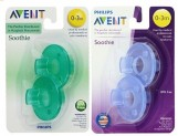 4-Count Philips Avent Soothie Pacifier (0-3 Months, Blue / Green)