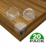 Baby Safety Corner Guards 20-Pack CESHUMD Clear Table Corner Protector for Baby