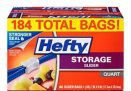 184-Count Hefty Slider Storage Bags (Quart)