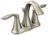 Moen Eva Two-Handle Bathroom Faucet w/ Drain Assembly (Brushed Nickel)