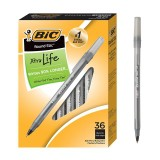 BIC Round Stic Xtra Life Ballpoint Pen, Medium Point (1.0mm), Black, 36-Count-50% OFF
