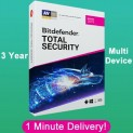 Bitdefender Total Security 2019 Multidevice  up to 5 – 3 Years | Download Link $19.99