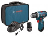 Bosch 12-Volt Max Brushless 3/8-Inch Drill/Driver Kit PS32-02 with 2 Lithium-Ion Batteries, 12V Charger and Carrying Case