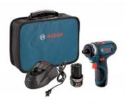 Bosch 12-Volt Max Lithium-Ion 2-Speed Pocket Driver Kit w/ 2 Batteries