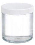 Wheaton W216906 Clear Glass 16oz Straight Sided Jar
