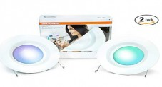 2-Pack Sylvania Lightify 65W Equivalent Smart LED Recessed Lighting Kit