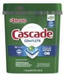 78-Count Cascade Complete ActionPacs Dishwasher Detergent (Fresh Scent)