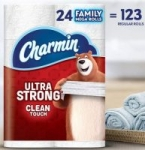 24-Ct Charmin Family Mega Toilet Paper Rolls (Ultra Strong or Soft) $26.95