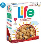 3-Count of 13oz Quaker Life Breakfast Cereal (Cinnamon)
