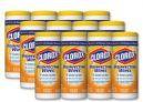Clorox Disinfecting Wipes, 7 x 8, Crisp Lemon, 35/Canister, 12/Carton $27.96