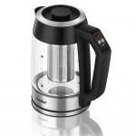 Comfee' 1.7L Temperature Control Electric Glass Tea Kettle w/ Tea Infuser