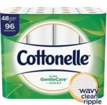 48-Count Cottonelle Ultra GentleCare Double Roll Toilet Paper