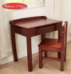 Melissa & Doug Child's Lift-Top Desk & Chair (Espresso)