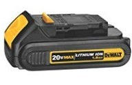 DEWALT 20V MAX Battery, Compact 1.5Ah DCB201 for $49.00