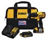 DEWALT 20V MAX Li-Ion 1/2 in. Compact Drill Driver Kit DCD780C2 Reconditioned $109.99