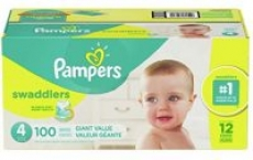 300-Count Pampers Swaddlers Diapers (Size 4)