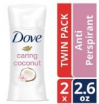 2-Pack Dove Advanced Care Antiperspirant (Caring Coconut or Revive)