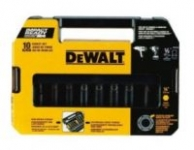 10-Piece DeWalt 1/2″ Impact Ready SAE Socket Set