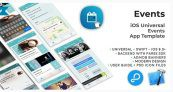 Events | iOS Universal Events App Template (Swift) – Free