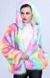 One-piece Women Long Plush Fur Coat-30% off
