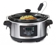 Hamilton Beach Stainless Steel 6-Quart Programmable Slow Cooker With Temperature Probe